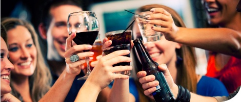 top visual alcoholic drinks point of purchase displays