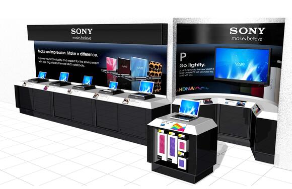 Sony Retail Display Case Kiosk - POP DISPLAY