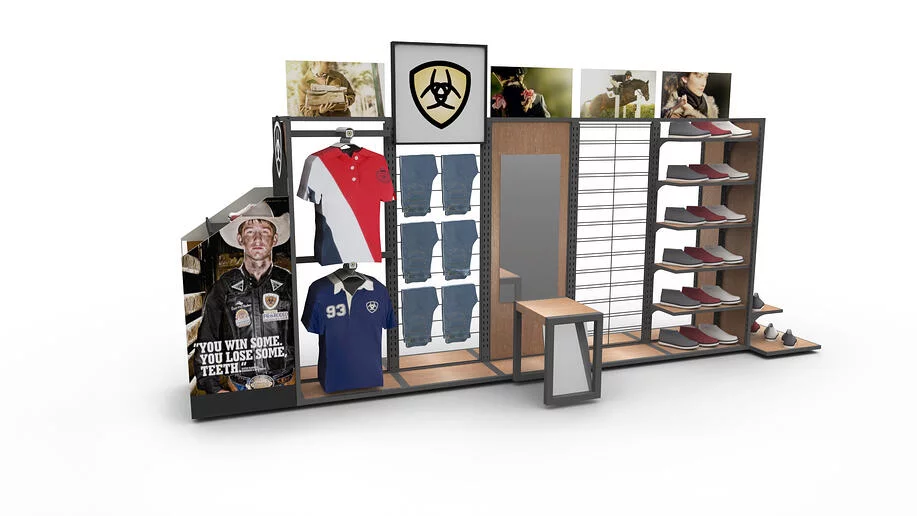 ARIAT APPAREL AND FOOTWEAR WALL FIXTURE