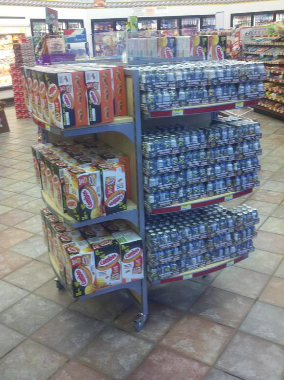 Pinwheel convenience store fixture example