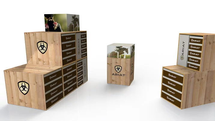 ARIAT WOOD STACKABLE FRAME DISPLAY