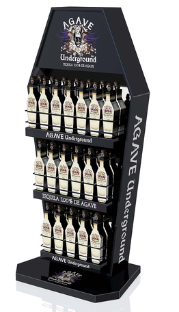 AGAVE BRAND ALCOHAL POP DISPLAY