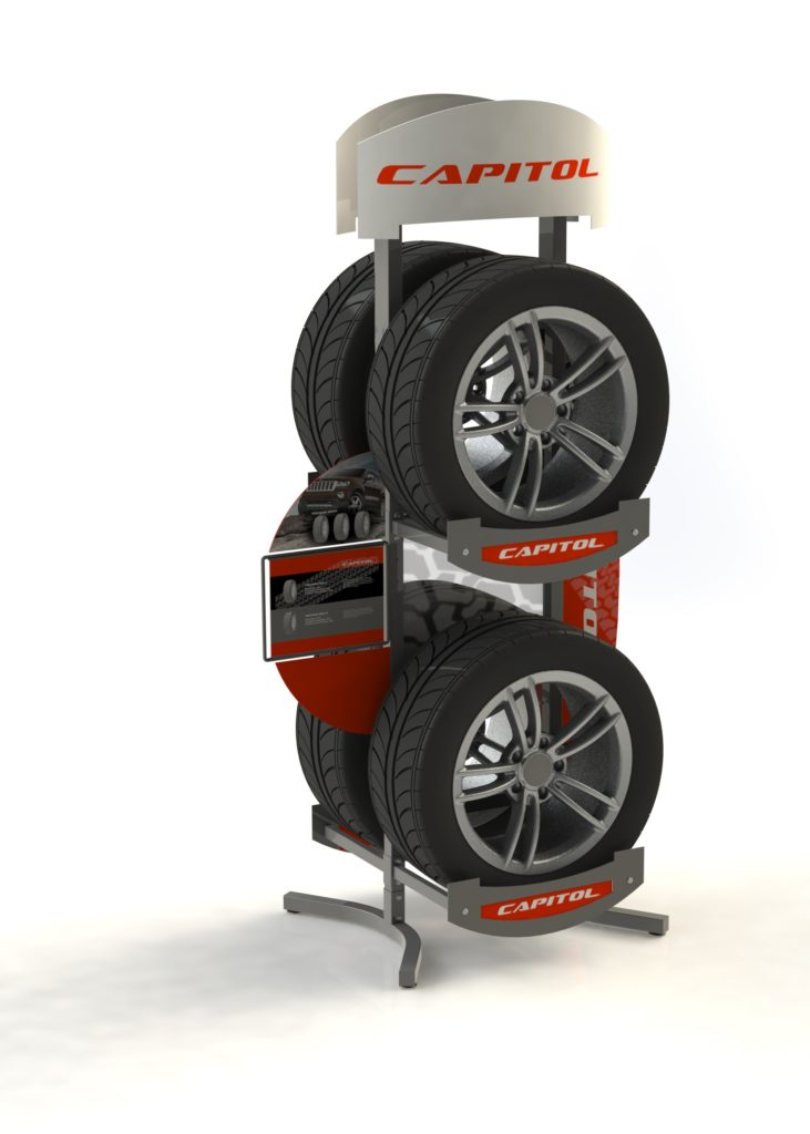 CAPITOL-TIRE-POINT-OF-PURCHASE-DISPLAY-STAND