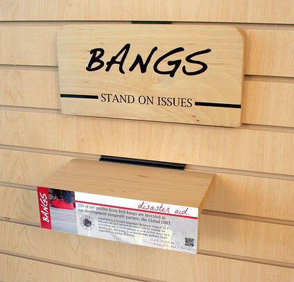 BANGS SLAT point-of-purchase signs