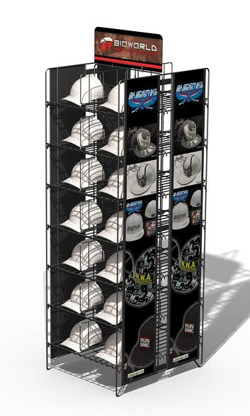 BIOWORLD hat display stand