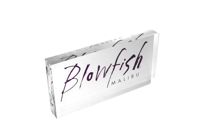 BLOWFISH acrylic displays