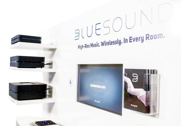 BlueSound Angled2 Point of Purchase Design