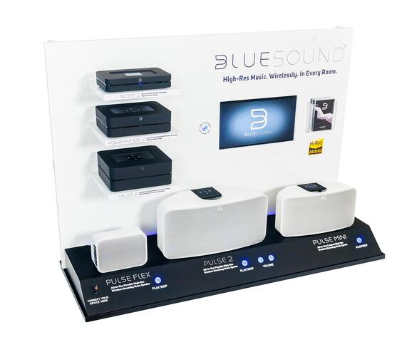 BlueSound point of purchase displays