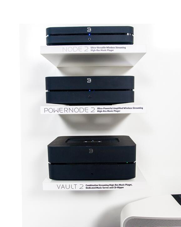BlueSound Shelves Point of Purchase Design