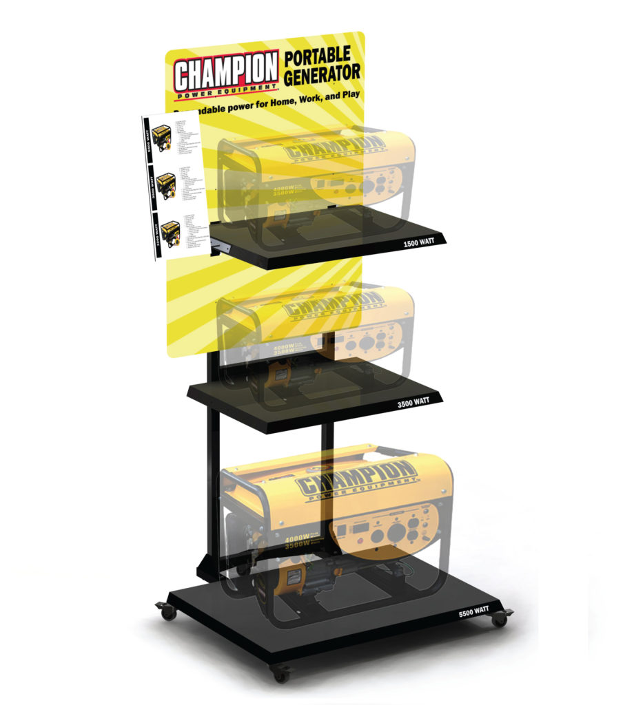 Champion Portable Generator Custom POP Display