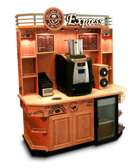 COFFEE-BEAN-EXPRESS-LARGE COFFEE DISPLAY & TEA DISPLAY