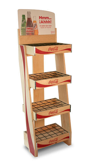 Coke Mexico Sustainable Retail Display Pine Wood