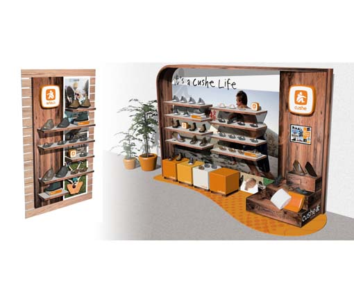 Cushe Store within a Store Environment