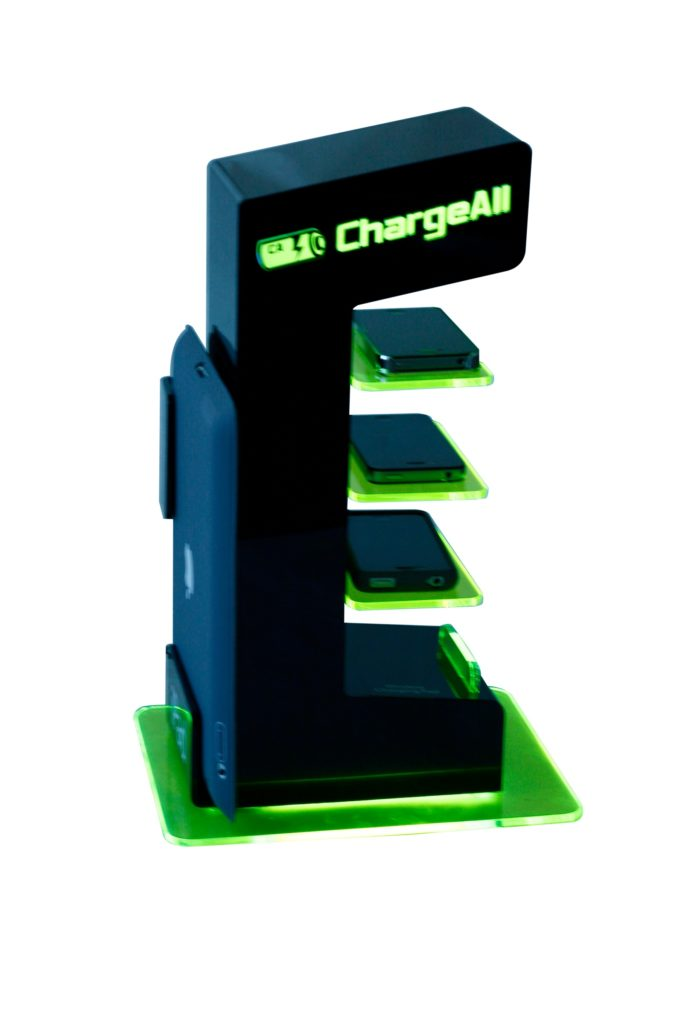 Chargeall acrylic displays
