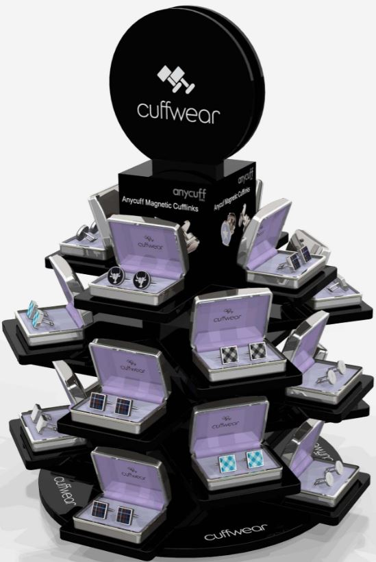 Cuffwear acrylic displays