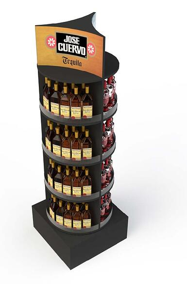 DIAGEO point of purchase displays