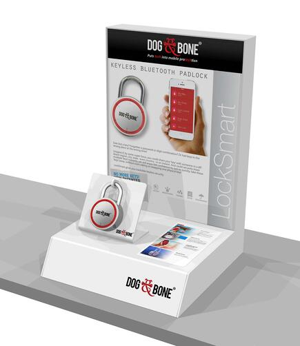 DOG AND BONE POINT OF PURCHASE DISPLAY BLUETOOTH LOCK