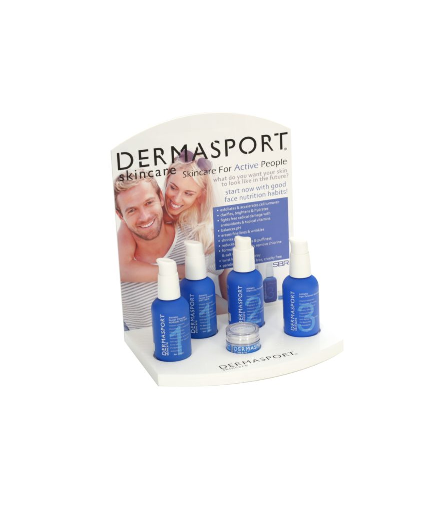 DermaSport retail POP displays