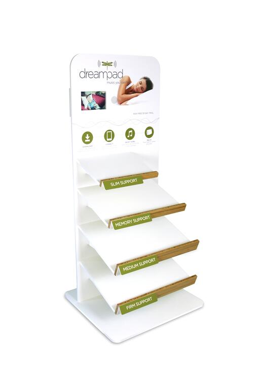 Dream Pad point of purchase design