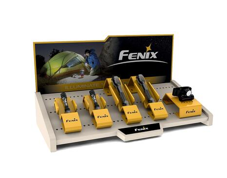 FENIX FLASHLIGHTS COUNTER POINT OF PURCHASE DISPLAY