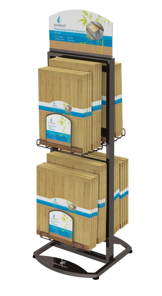 FLOOR UNIT CONCEPT-1 LARGE POCKET-1 Retail POP display