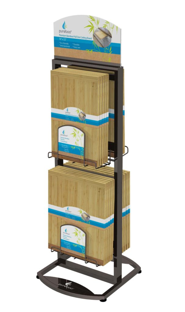 FLOOR UNIT CONCEPT-2 SMALL POCKET Retail POP display