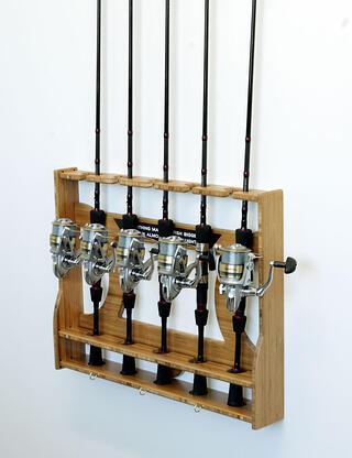 Bamboo fishing pole holder