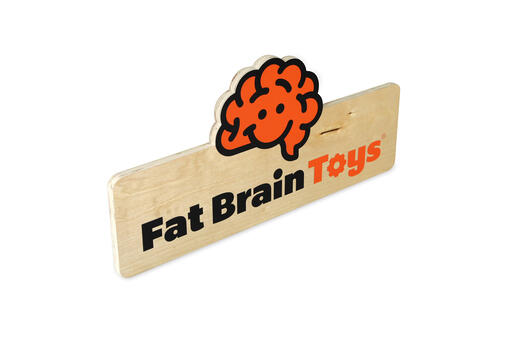Fat Brain Slat point-of-purchase signs