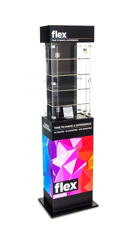 Flex point of purchase displays