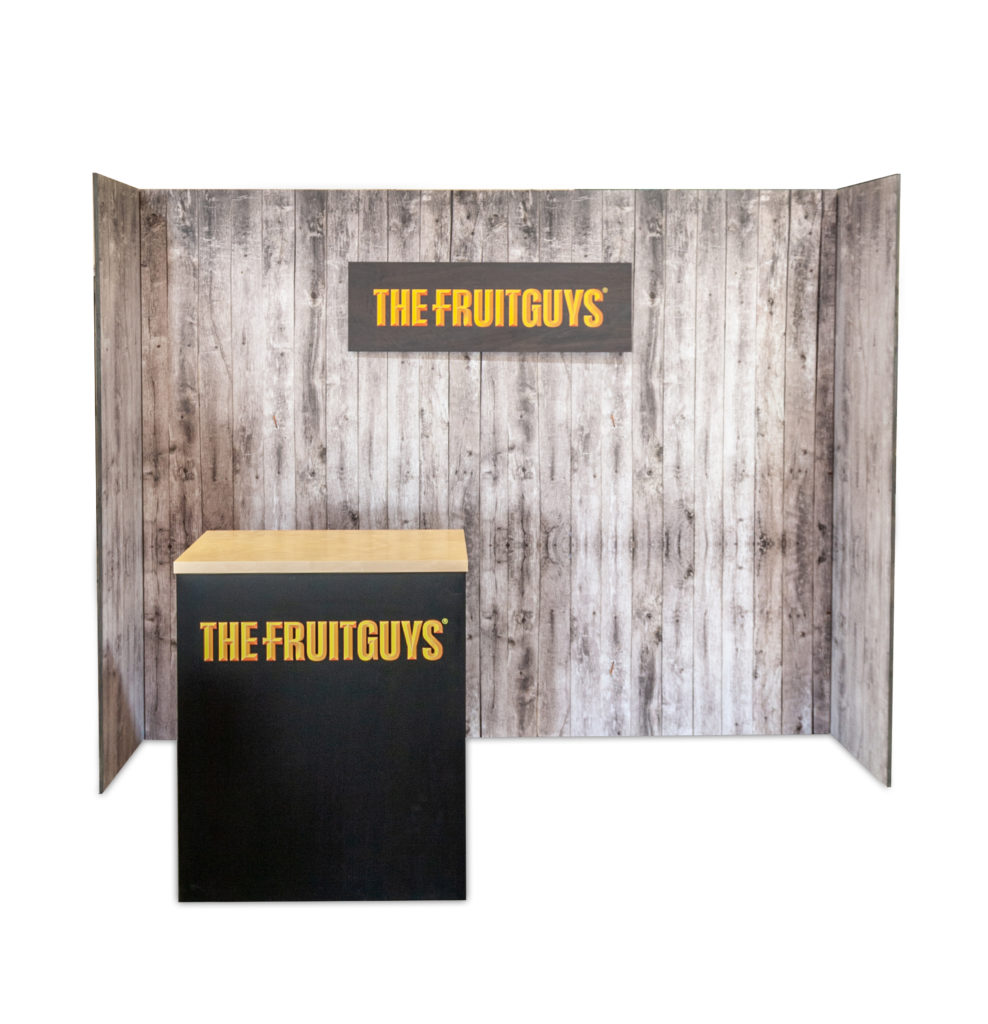 Fruit guys booth POP Displays