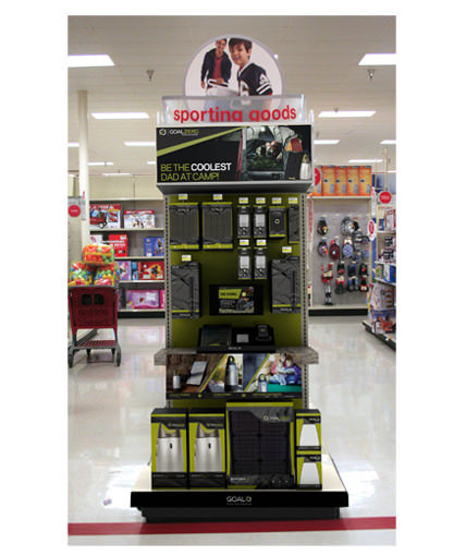 target end cap with video screen for goal zero