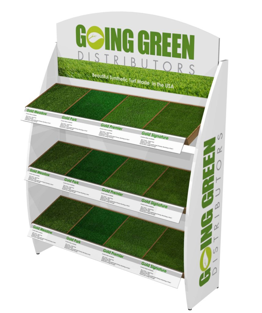 Going Green Artificiul Turf Grass Retail POP Display