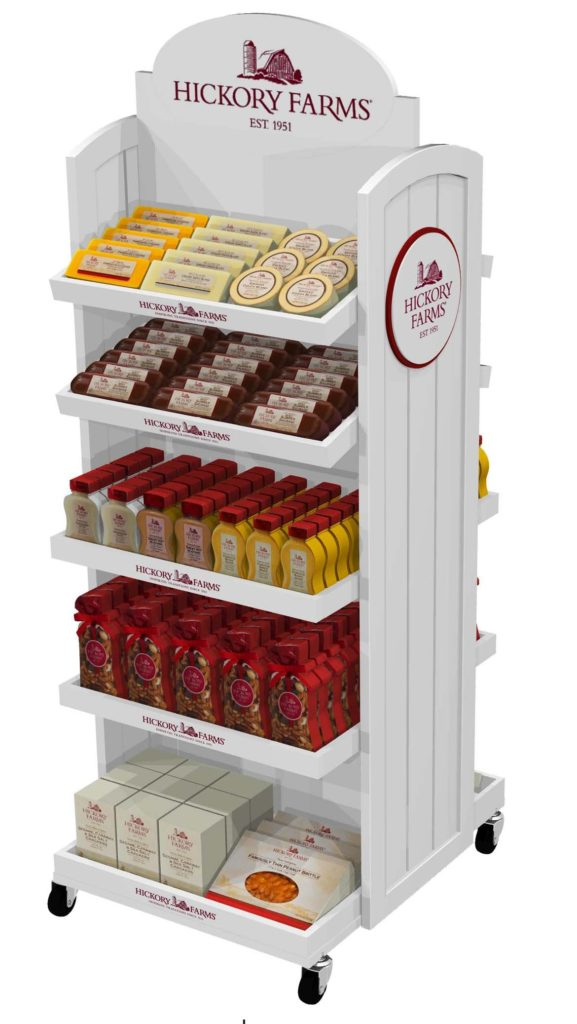 HICKORY-FARMS-COUNTRY-WOOD-RETAIL-DISPLAY