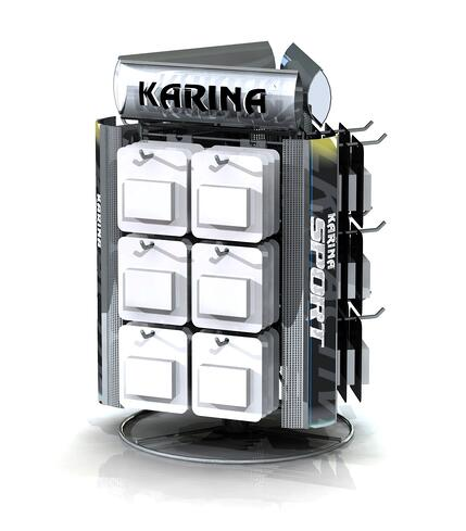 Karina custom retail displays