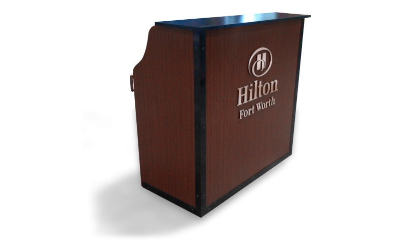 Hilton Hotel Kiosk wood display