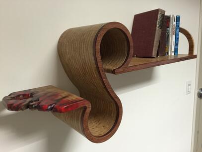 Bamboo S imagination of reading book shelf