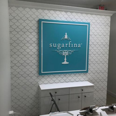 SugarFina Wood displays