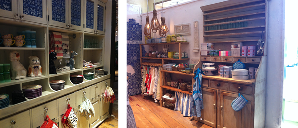 french kitchen setting in Anthropologie