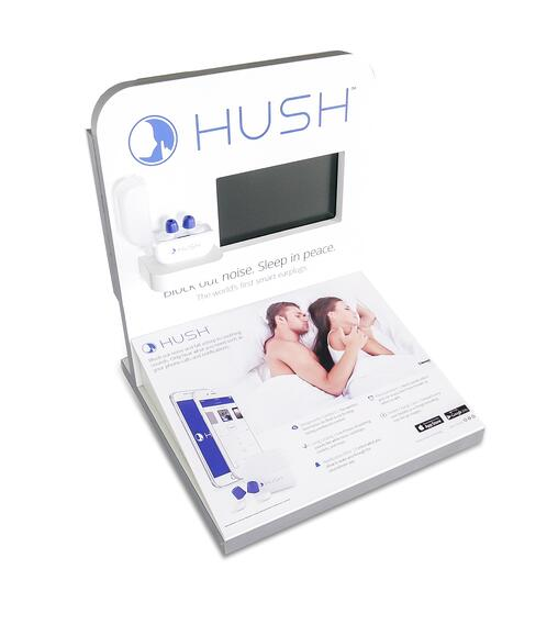 Hush Point of purchase design