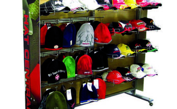 K-Mart hat display stand