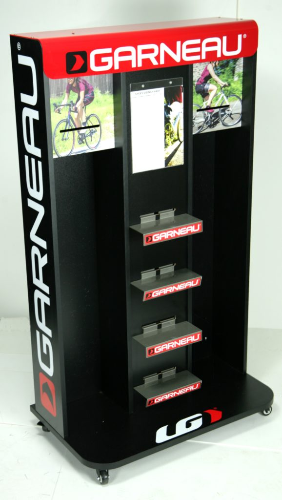 LG Garneau Apparel Displays - Shoes and Accessories Bicycle Products