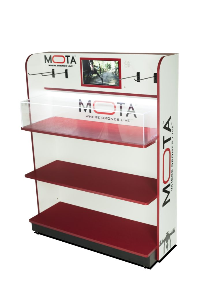 MOTA point of purchase design