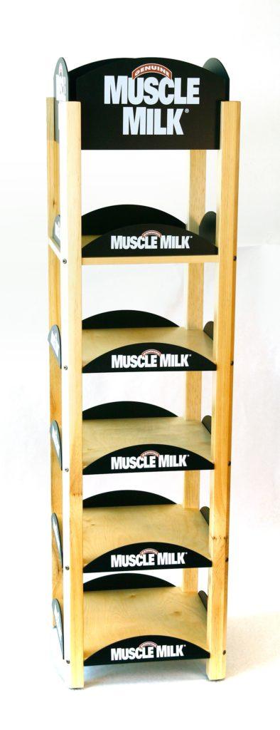 MUSCLE-MILK-BEVERAGE-WOOD-RETAIL-DISPLAY