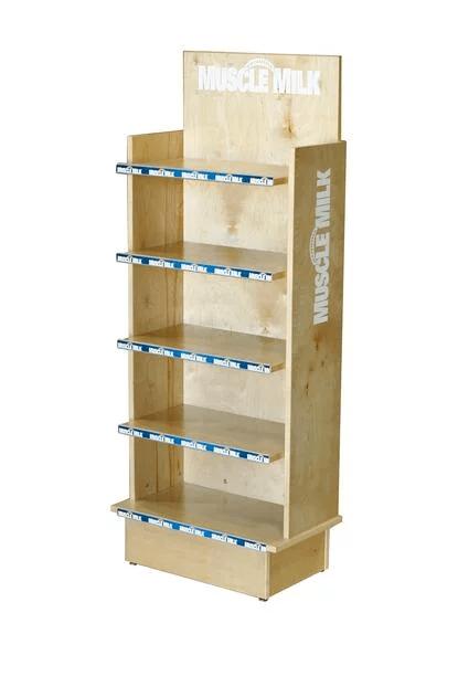 MUSCLE MILK wood displays