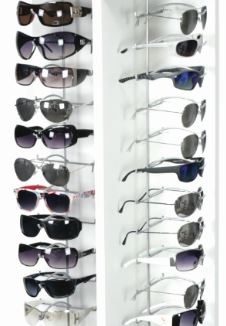 Mcgee white sunglass display