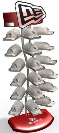 New Era Triple hat display stand