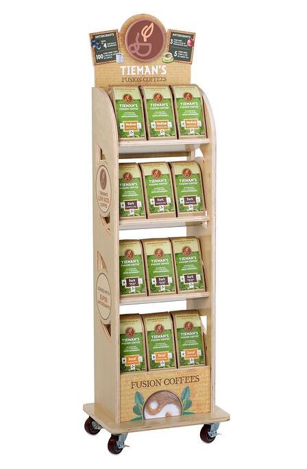 POP Tiemans coffees point of purchase design