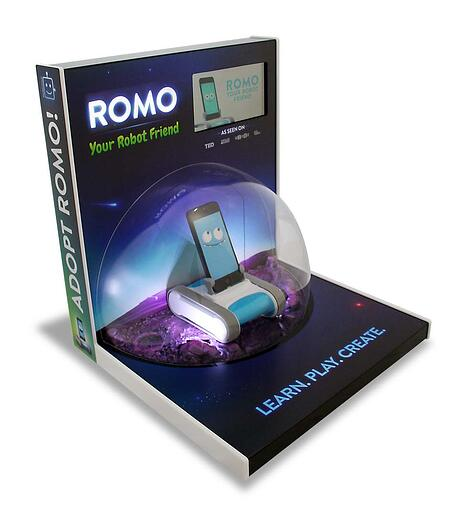 ROMO point of purchase displays