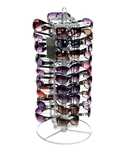 wire table top spining sunglass display