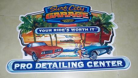 SURF CITY GARAGE Point-of-purchase signs